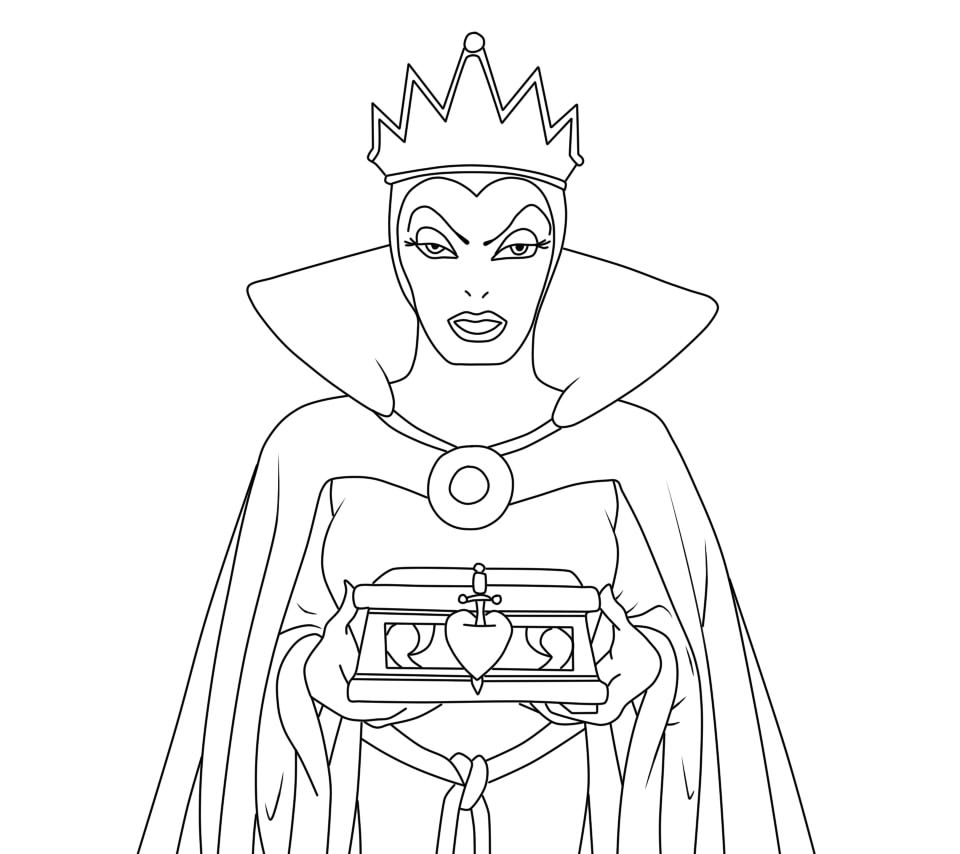 evil queen coloring pages pin on disney villains evil coloring pages queen