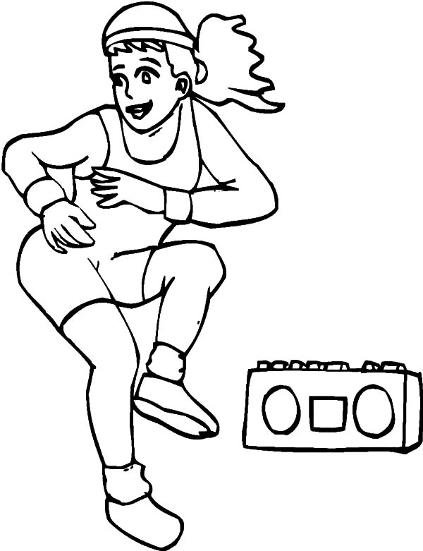 exercise coloring pages exercise with stair coloring pages kids play color pages coloring exercise