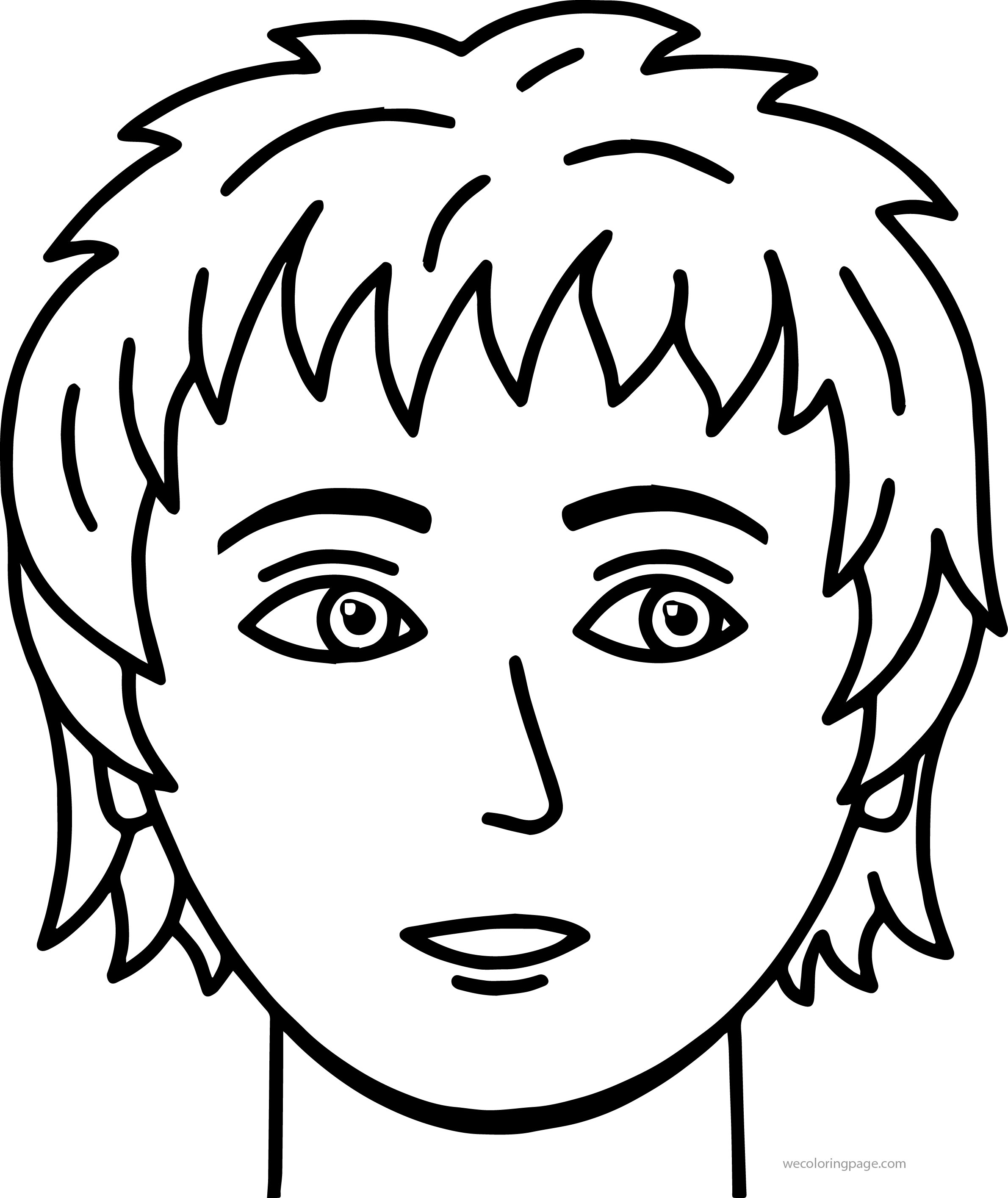 face coloring page boy face coloring page at getcoloringscom free coloring page face