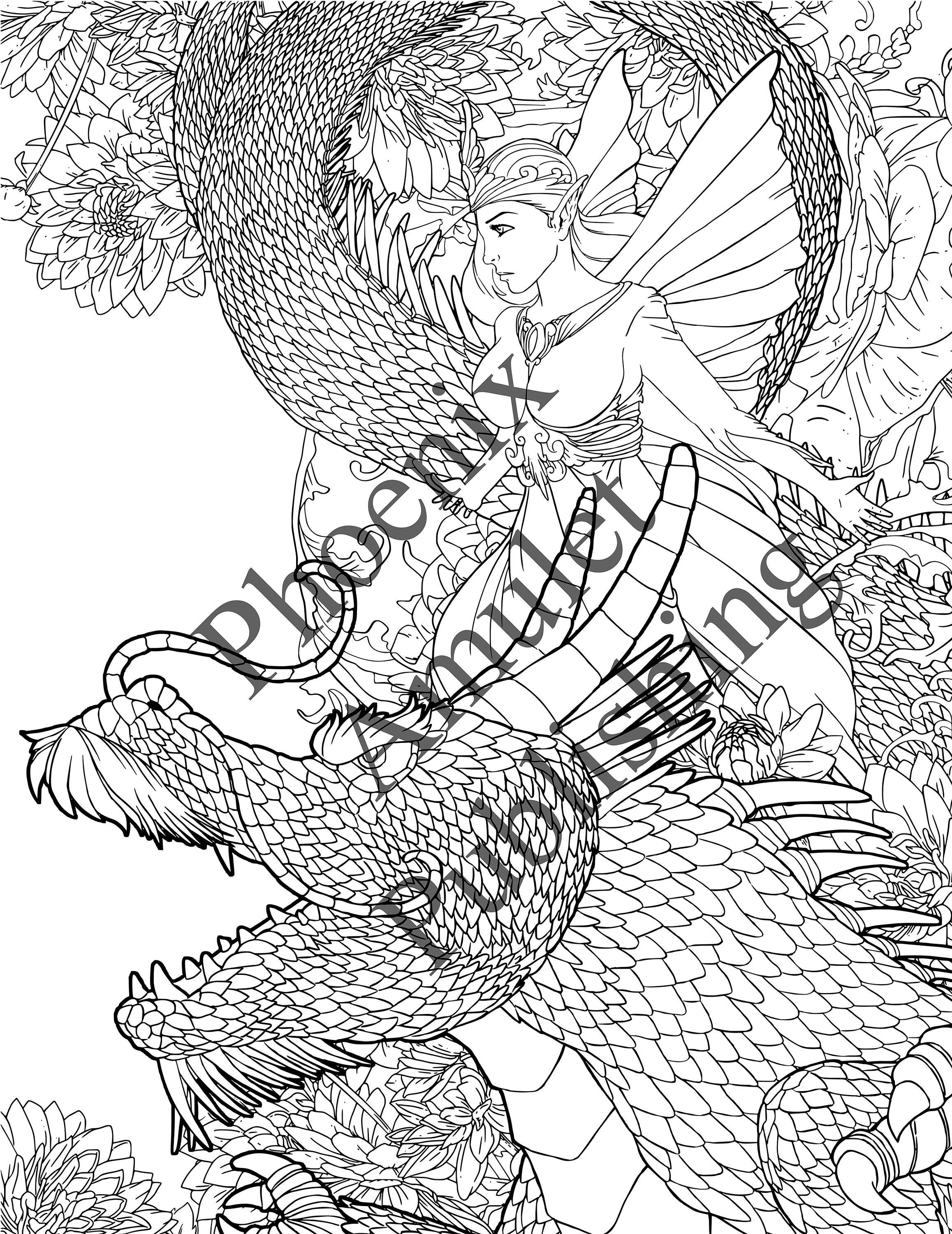 fairy and dragon coloring pages adult coloring pages the best of the best image by pages dragon fairy and coloring