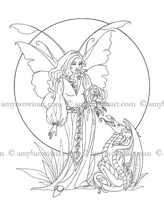 fairy and dragon coloring pages anne stokes coloring book magicalomahacom in 2019 and coloring fairy dragon pages