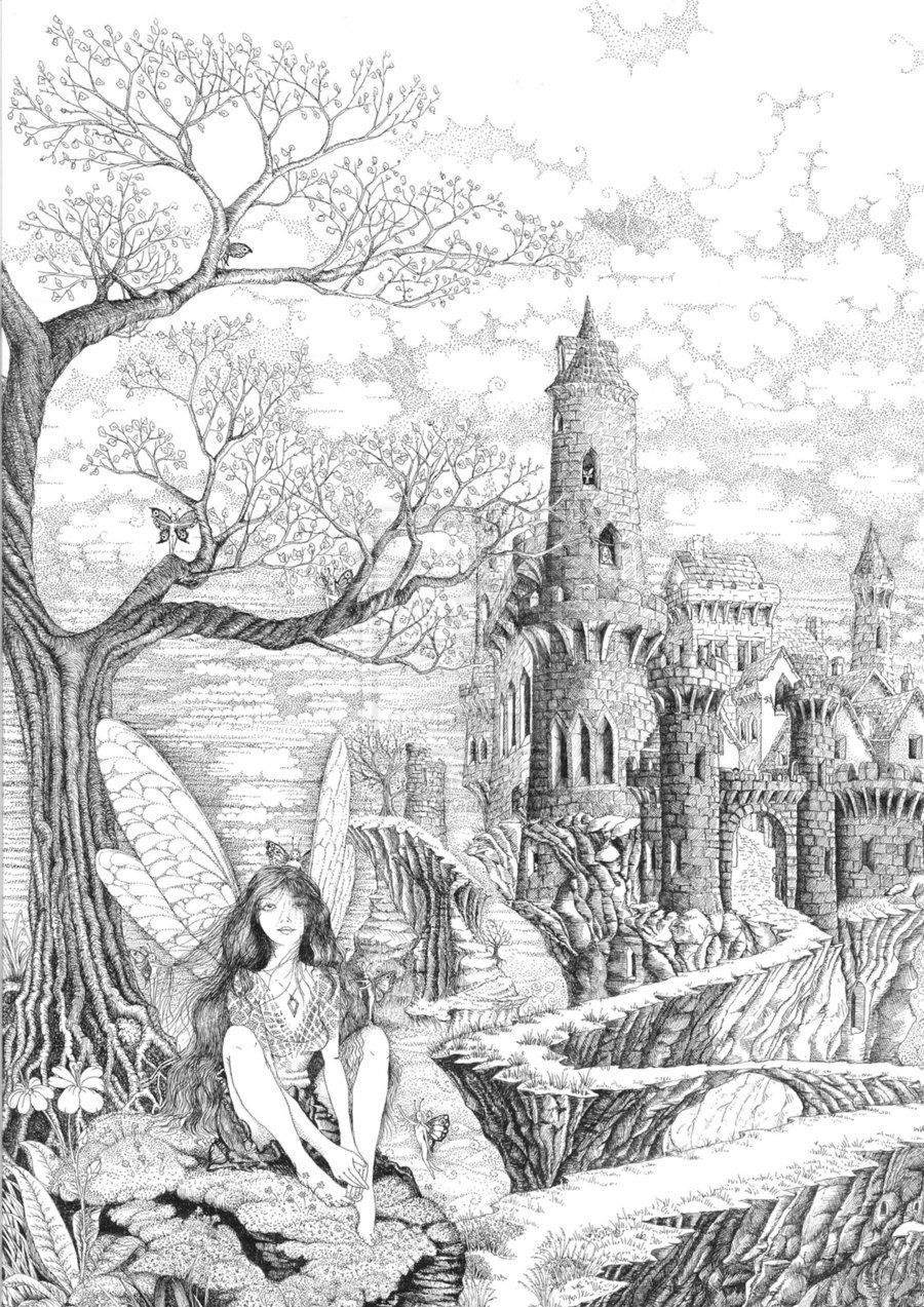 fairy grayscale coloring pages coloring for adults kleuren voor volwassenen grayscale pages fairy coloring grayscale