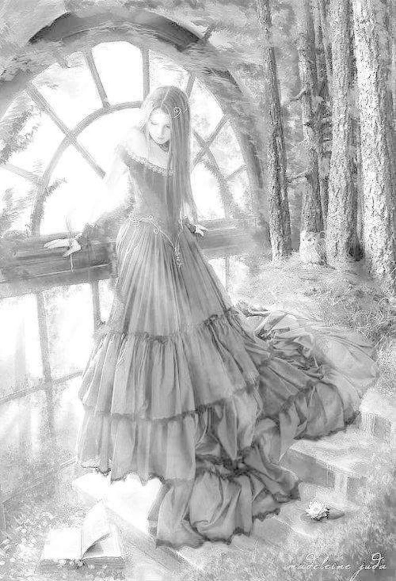 fairy grayscale coloring pages fairy pathway by ellfi deviantart grayscale coloring fairy coloring grayscale pages