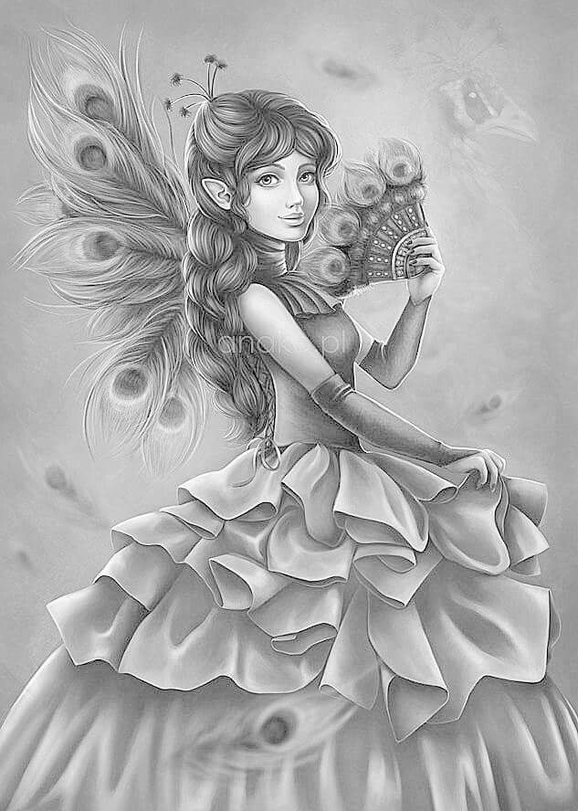 fairy grayscale coloring pages free grayscale coloring pages at getcoloringscom free coloring grayscale fairy pages