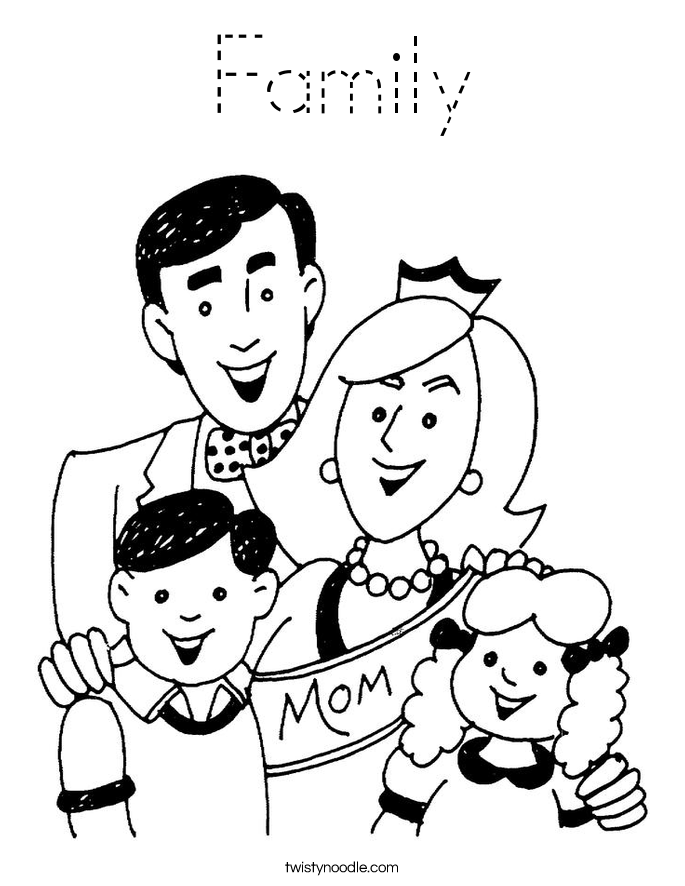 family coloring pages family coloring pages for preschoolers at getcoloringscom pages family coloring