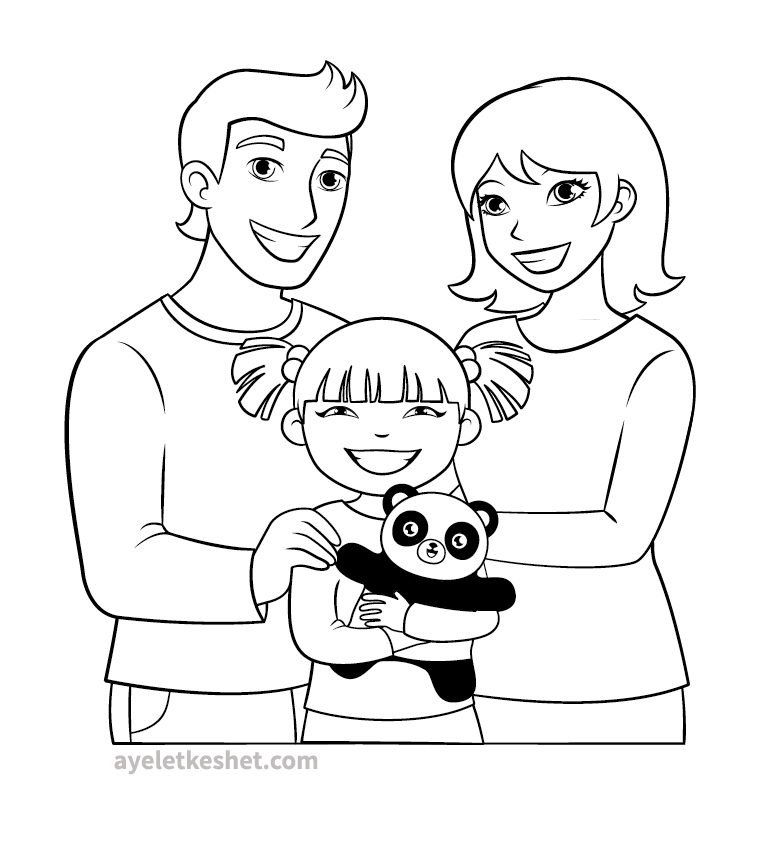 family coloring pages free coloring pages about family that you can print out coloring family pages