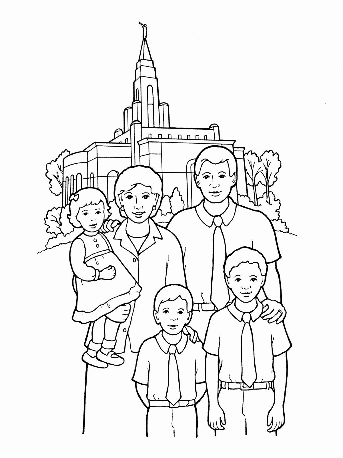 family coloring pages happy family coloring page at getcoloringscom free coloring family pages