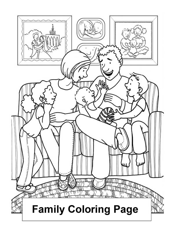 family coloring pages happy family in the living room coloring page coloring sky family pages coloring