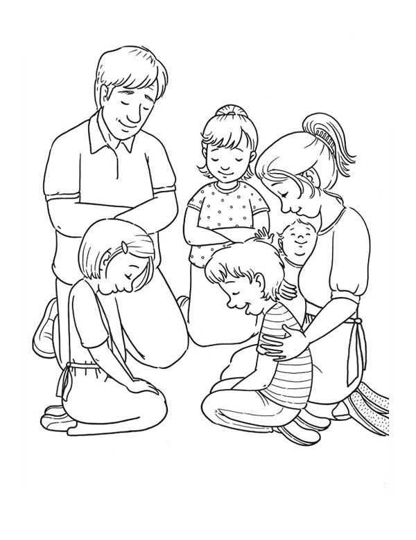 family coloring pages member of family praying together coloring page coloring sky pages coloring family