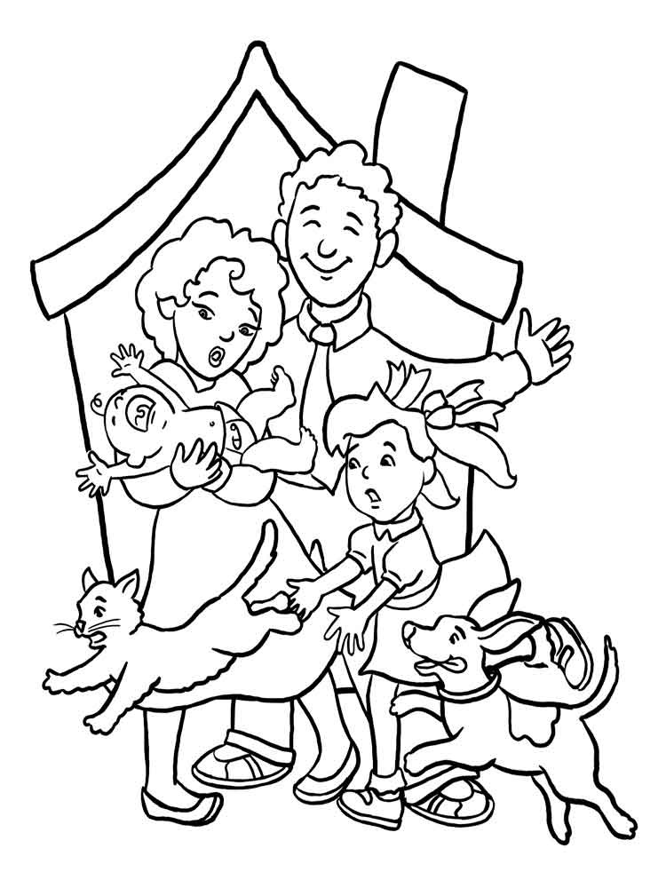 family coloring pages printable family coloring pages download and print family coloring printable coloring family pages