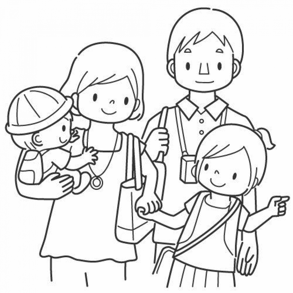 family coloring pages printable family coloring pages pages printable family coloring