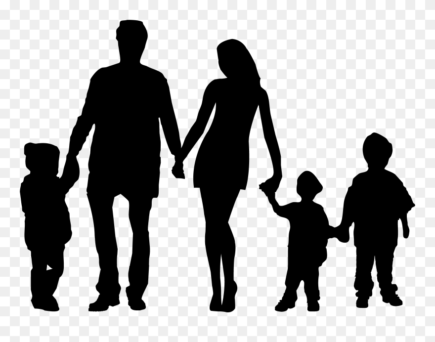 family of 5 silhouette all kinds of everything busy start to the new year silhouette family 5 of