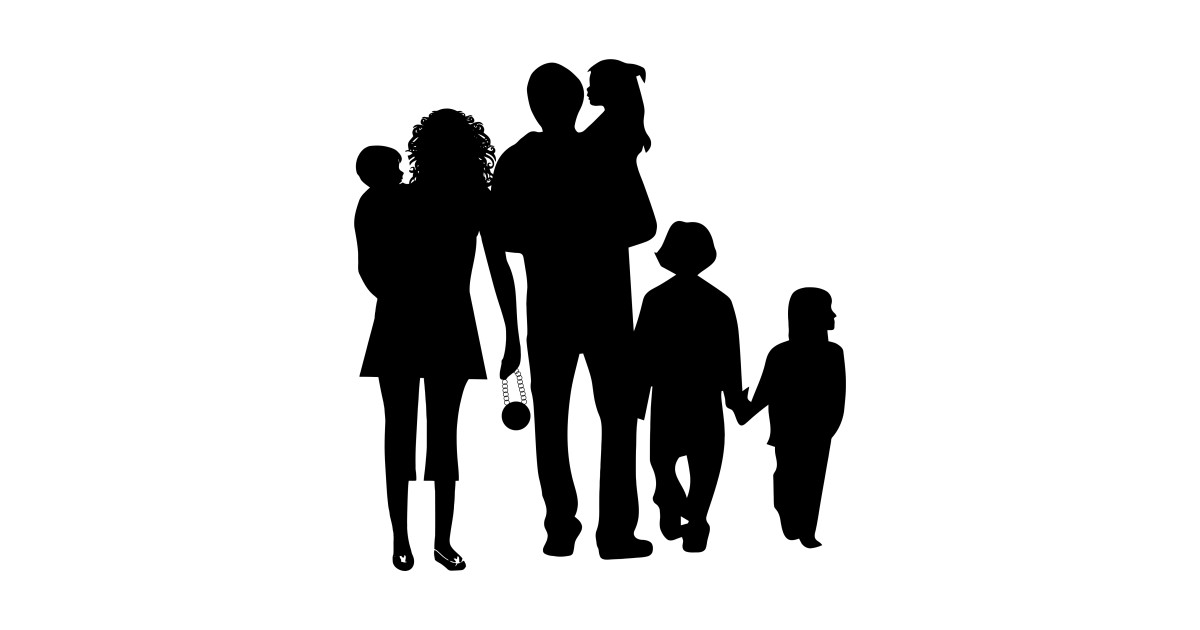 family of 5 silhouette family of 5 clipart 20 free cliparts download images on family silhouette of 5