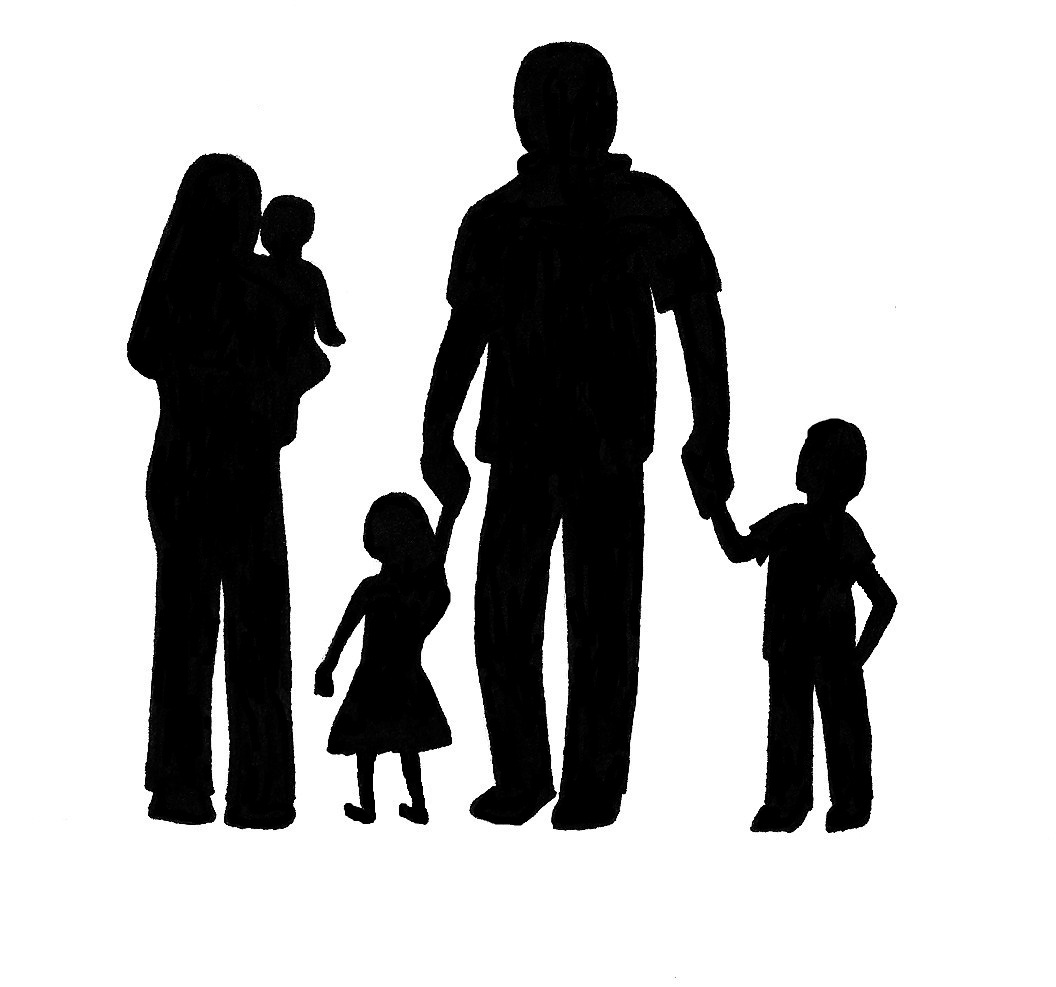 family of 5 silhouette family of five silhouette at getdrawings free download of silhouette 5 family
