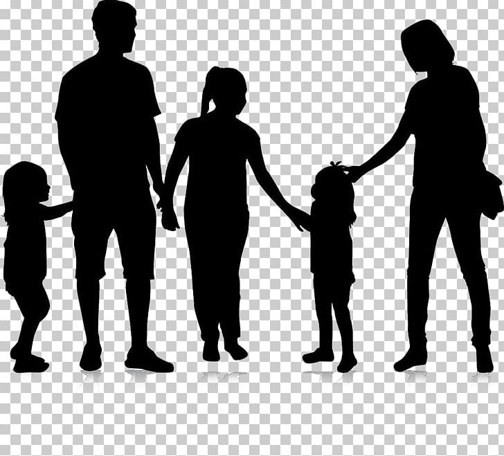 family of 5 silhouette kids pushing each other clipart clip art library family of 5 silhouette