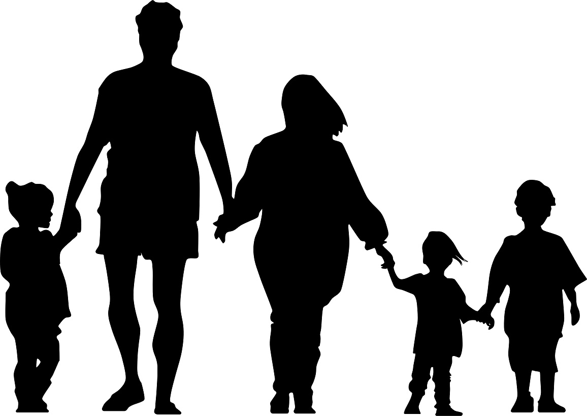 family of 5 silhouette royalty free family of five clip art vector images family silhouette 5 of