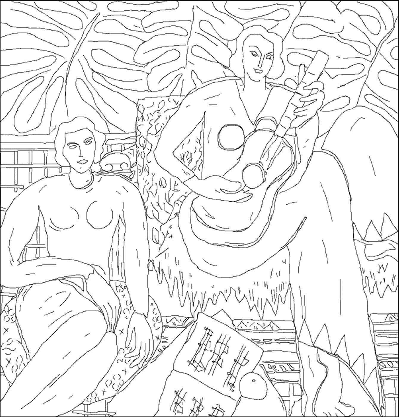 famous painting coloring pages famous painters and paintings coloring pages painting famous coloring pages 1 1
