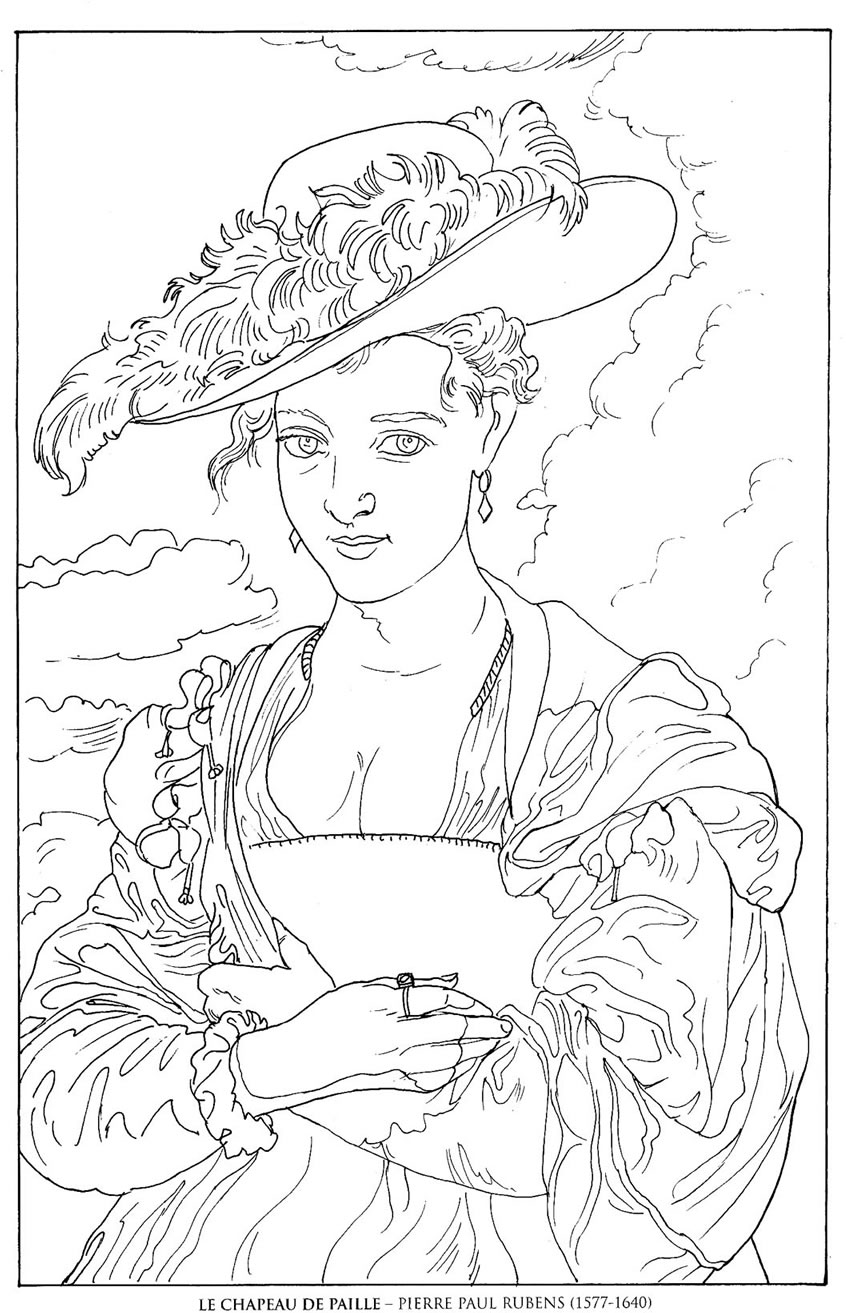famous painting coloring pages happy family art original and fun coloring pages painting famous pages coloring