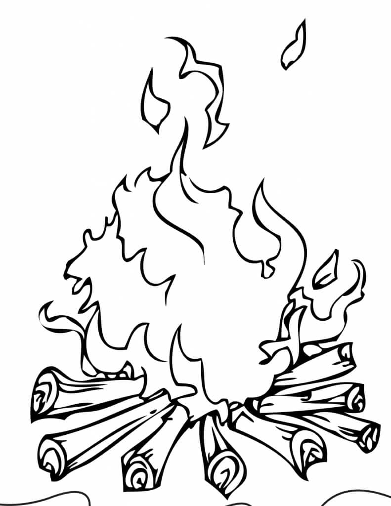 fire coloring page camp fire colouring pages 246759 campfire coloring pages coloring page fire