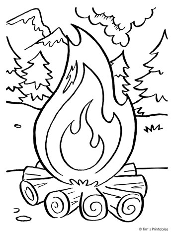 fire coloring page fire coloring pages fire page coloring