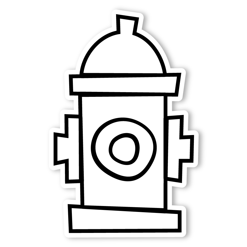 fire hydrant coloring pages fire hydrant drawing at getdrawings free download hydrant fire coloring pages
