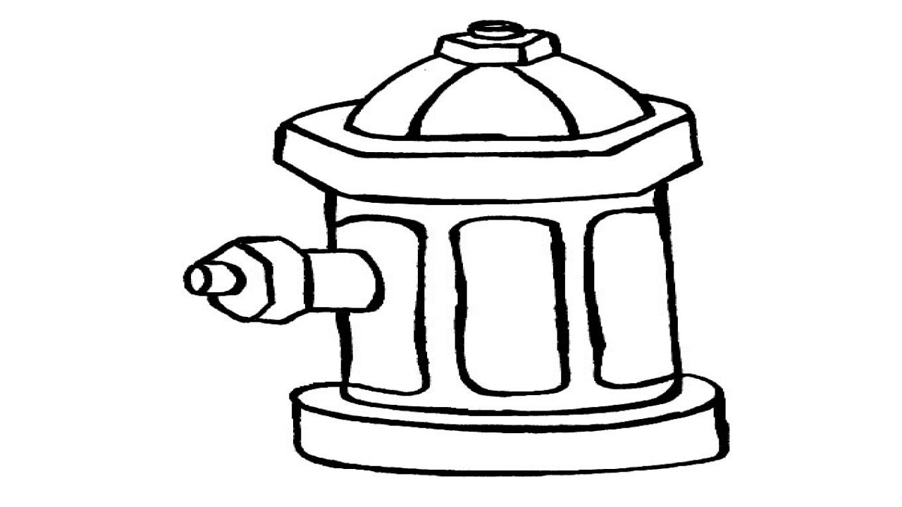 fire hydrant coloring pages fire hydrants drawing at getdrawings free download coloring pages hydrant fire