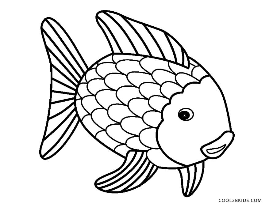 fish color rainbow fish template coloring home color fish