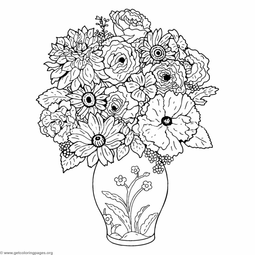 flower coloring book pages bouquet of flower and vase coloring pages coloring pages flower book