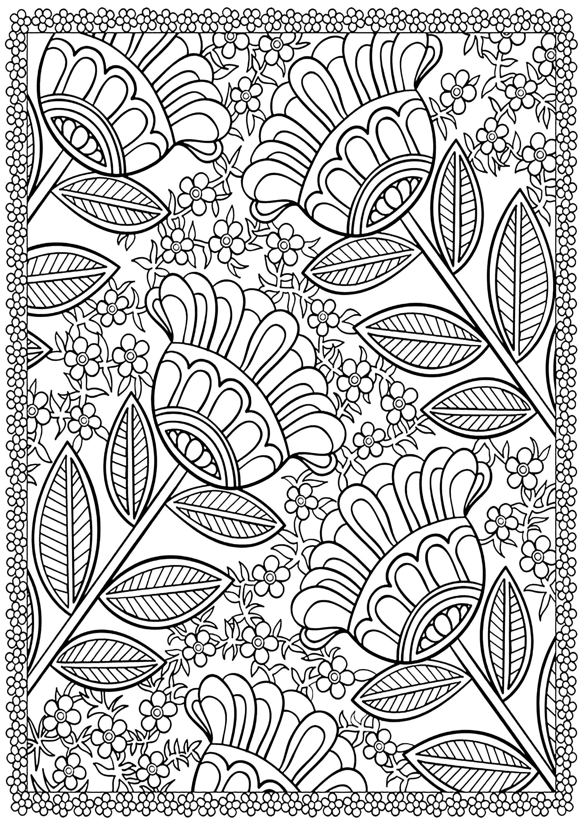 flower coloring book pages free coloring pages 21 gorgeous floral pages you can coloring flower book pages