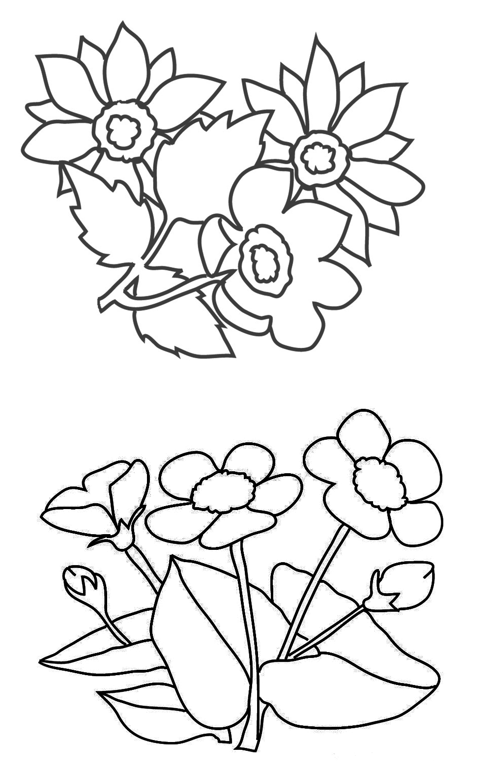 flower coloring page bouquet of flowers coloring pages for childrens printable coloring page flower