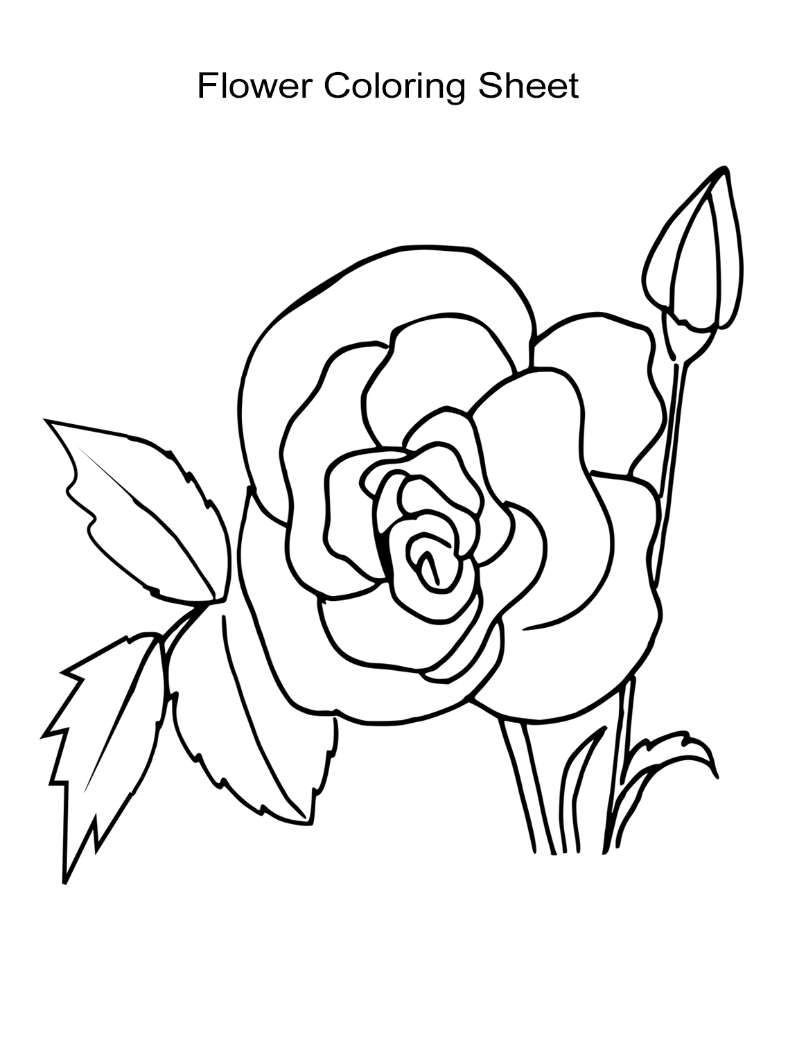 flower coloring page flower coloring pages part 3 flower page coloring