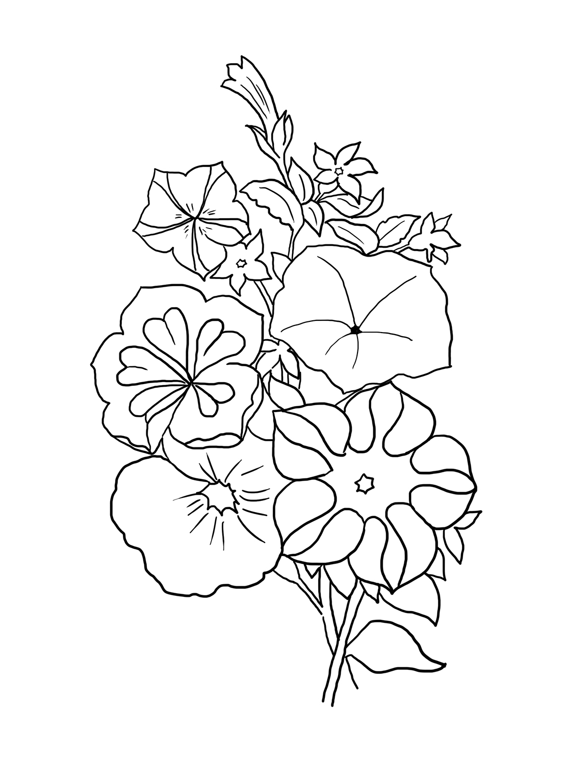 flower coloring page spring flower coloring pages to download and print for free flower page coloring