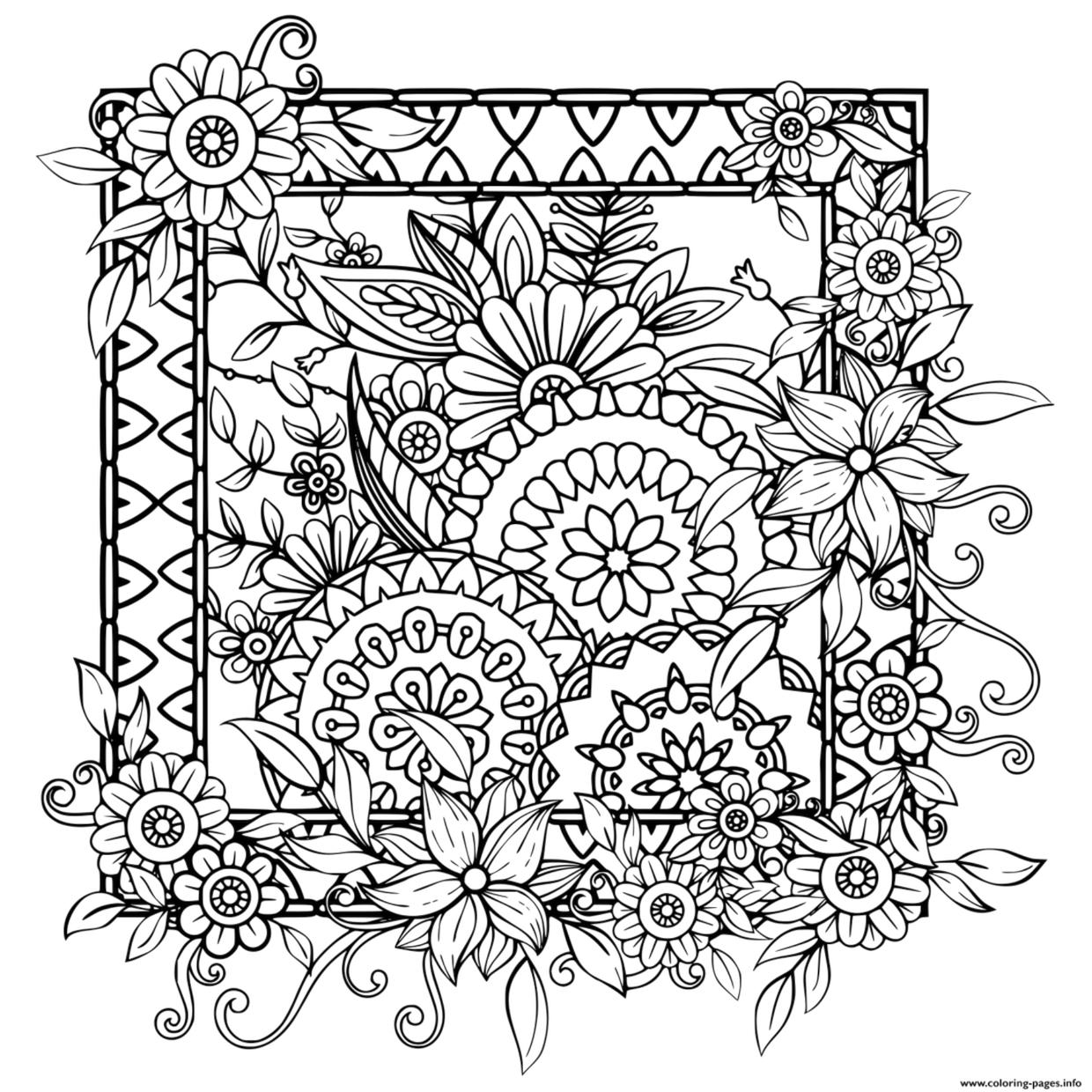 flower pattern coloring pages cherry blossom coloring page coloring home flower coloring pattern pages