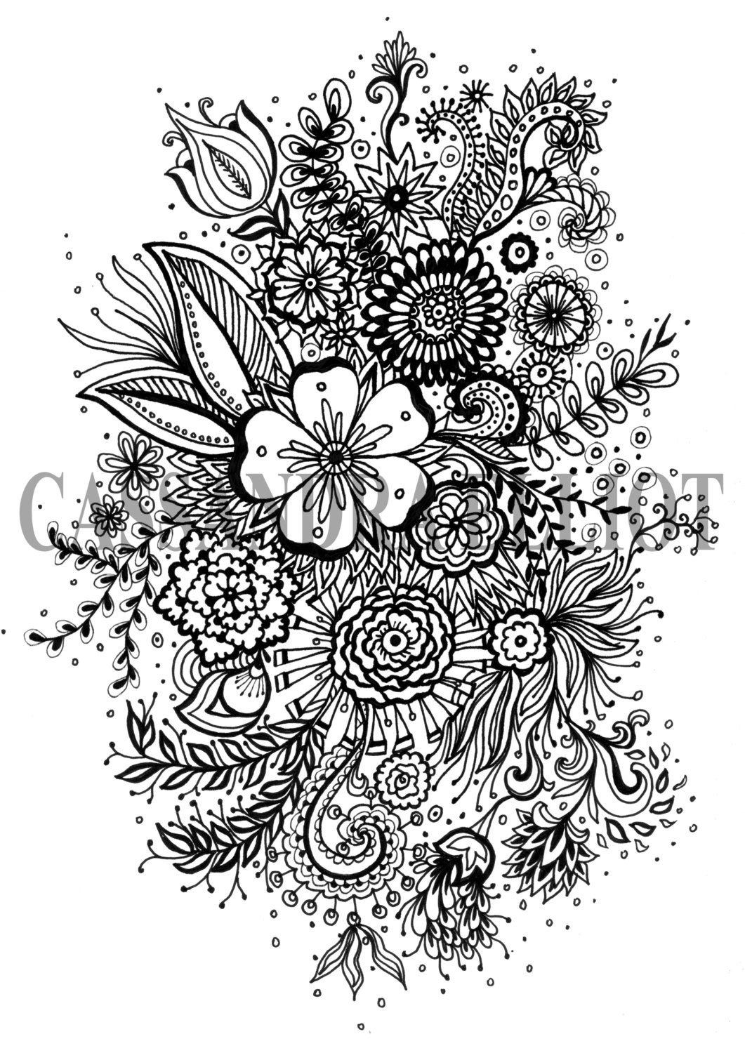 flower pattern coloring pages detailed flower drawing at getdrawings free download pattern coloring pages flower