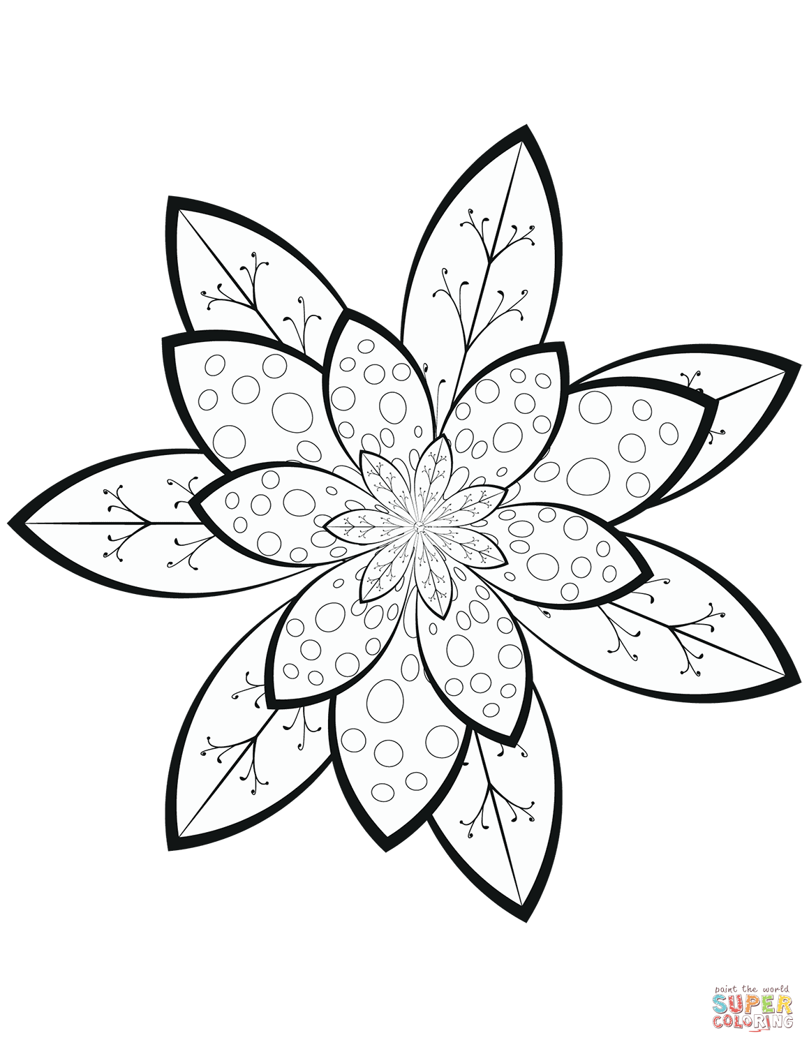 flower pattern coloring pages printable adult colouring page digital download print flower coloring pattern pages flower