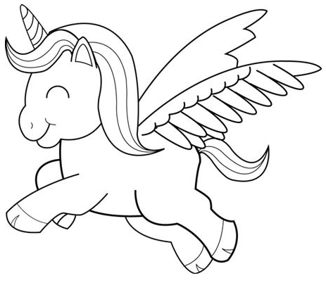 flying unicorn coloring pages winged unicorn coloring page free printable coloring pages coloring flying pages unicorn
