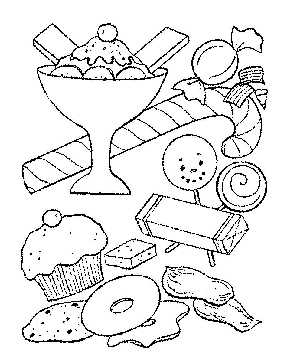 food pictures to colour sweets coloring pages for childrens printable for free pictures food to colour
