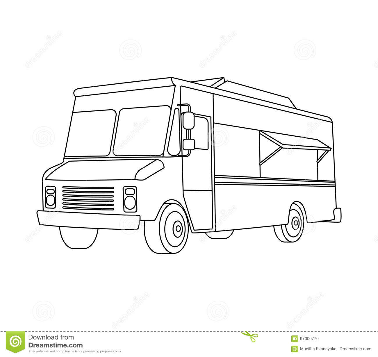 food truck coloring page food truck line art stock vector illustration of fast coloring food truck page