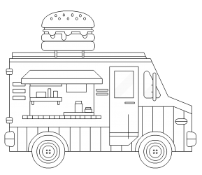 food truck coloring page royalty free food truck clip art vector images page coloring food truck