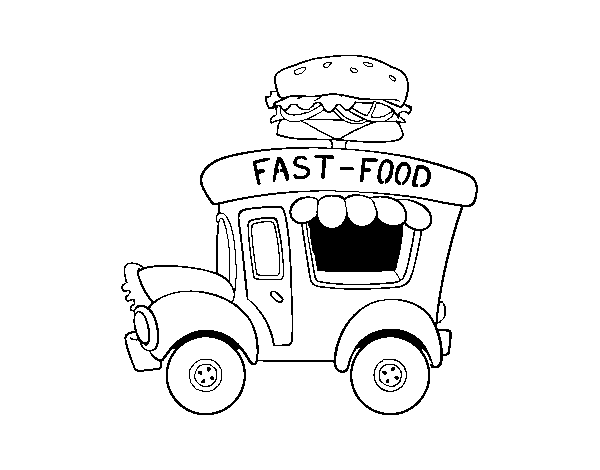 food truck coloring page the food truck race coloring page tracing twisty noodle truck food page coloring