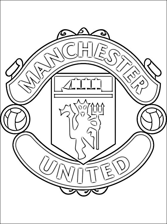 football team coloring pages coloring page of manchester united fc logo coloring pages team coloring pages football