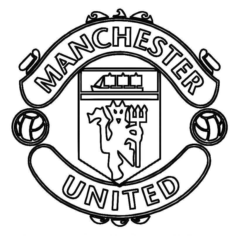 football team coloring pages print manchester united logo soccer coloring pages or coloring team football pages