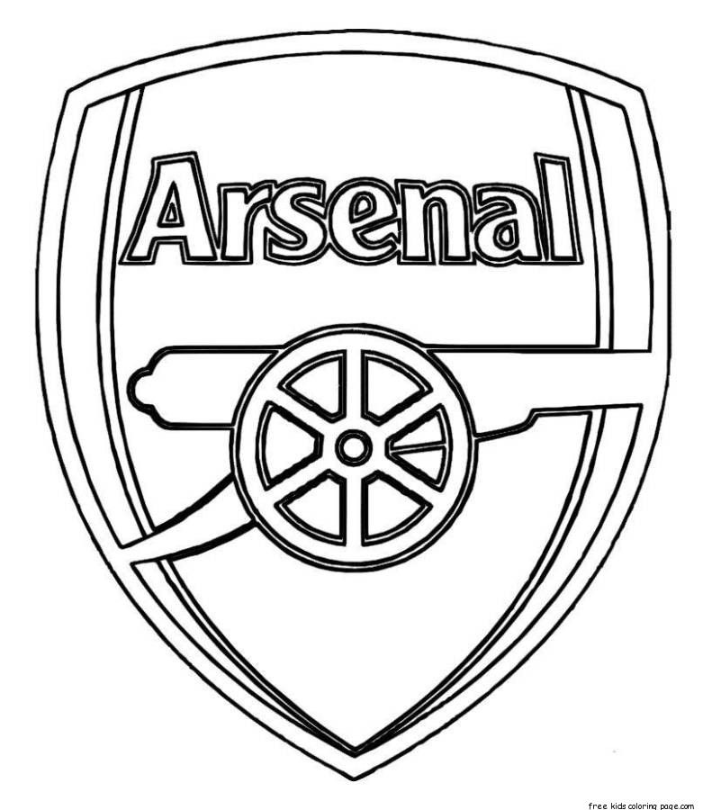 football team coloring pages printable soccer arsenal logo coloring pages for kids football coloring team pages