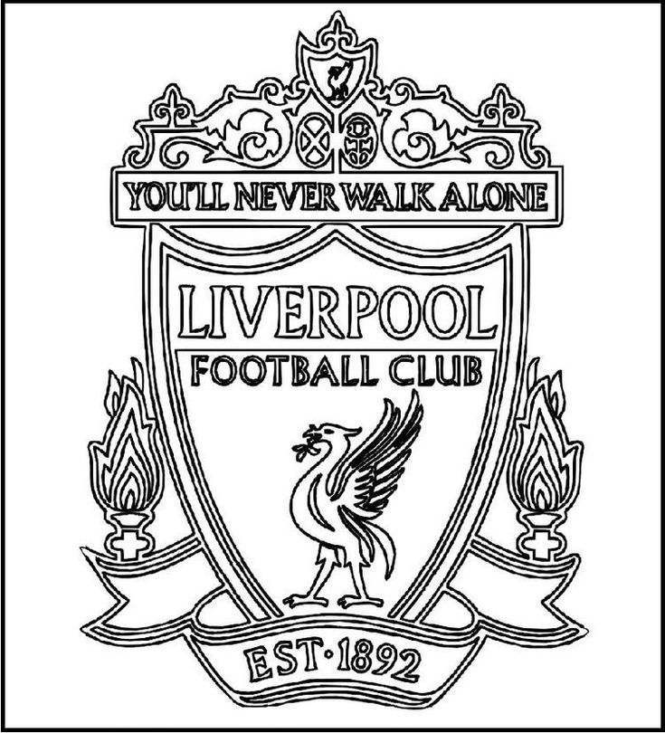football team coloring pages read moreliverpool football club logo coloring printable football team coloring pages