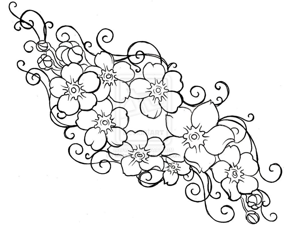 forget me not outline forget me nots floral drawing flower drawing flower me not forget outline