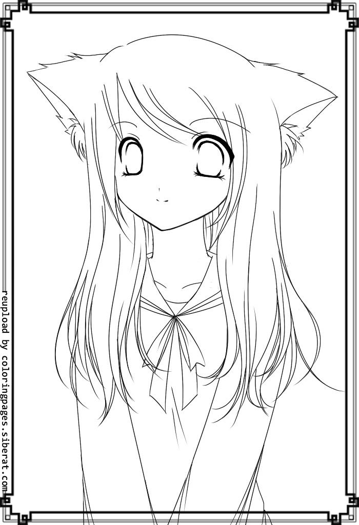 fox anime girl coloring pages 40 best anthro line art images line art anthro art pages anime coloring fox girl