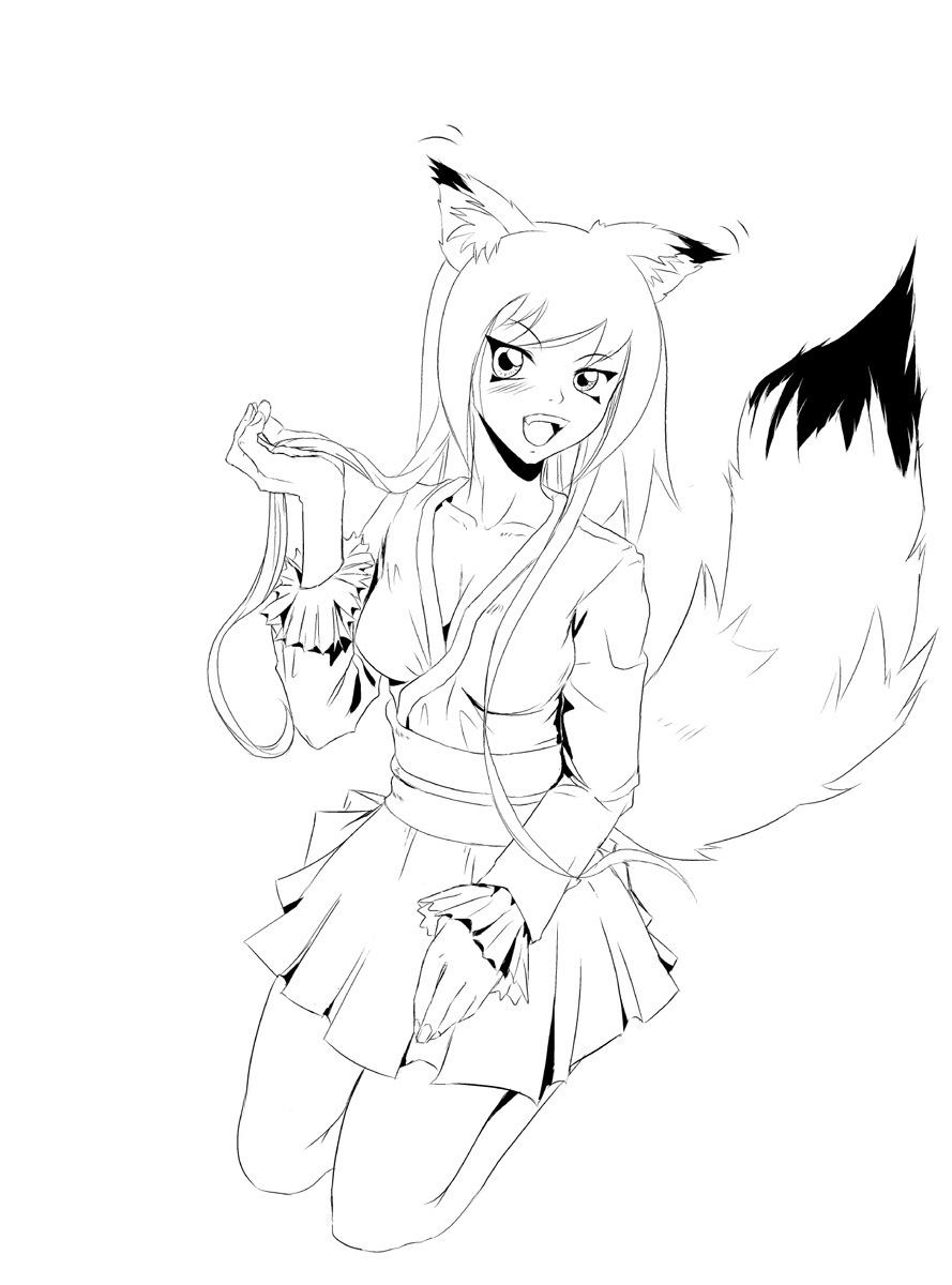 fox anime girl coloring pages amazing fox coloring pages coloring fox girl pages anime