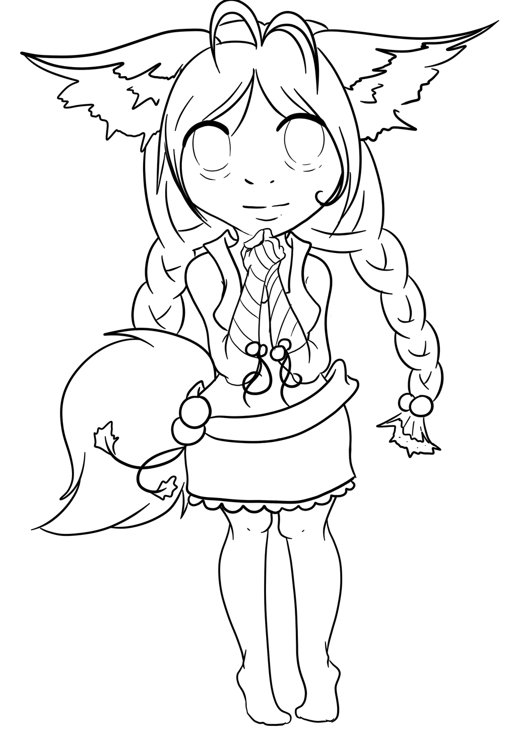 fox anime girl coloring pages fox girl coloring pages sketch coloring page anime fox girl coloring pages