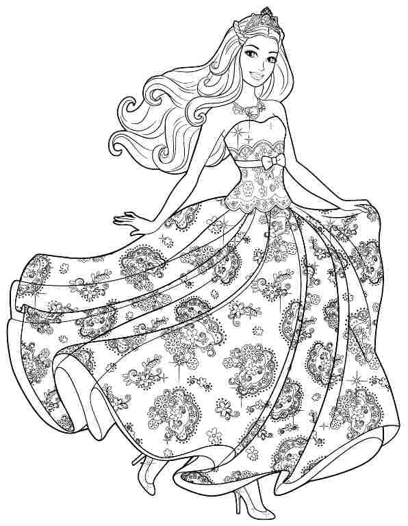 free barbie coloring pages 40 barbie coloring pages for kids free pages coloring barbie