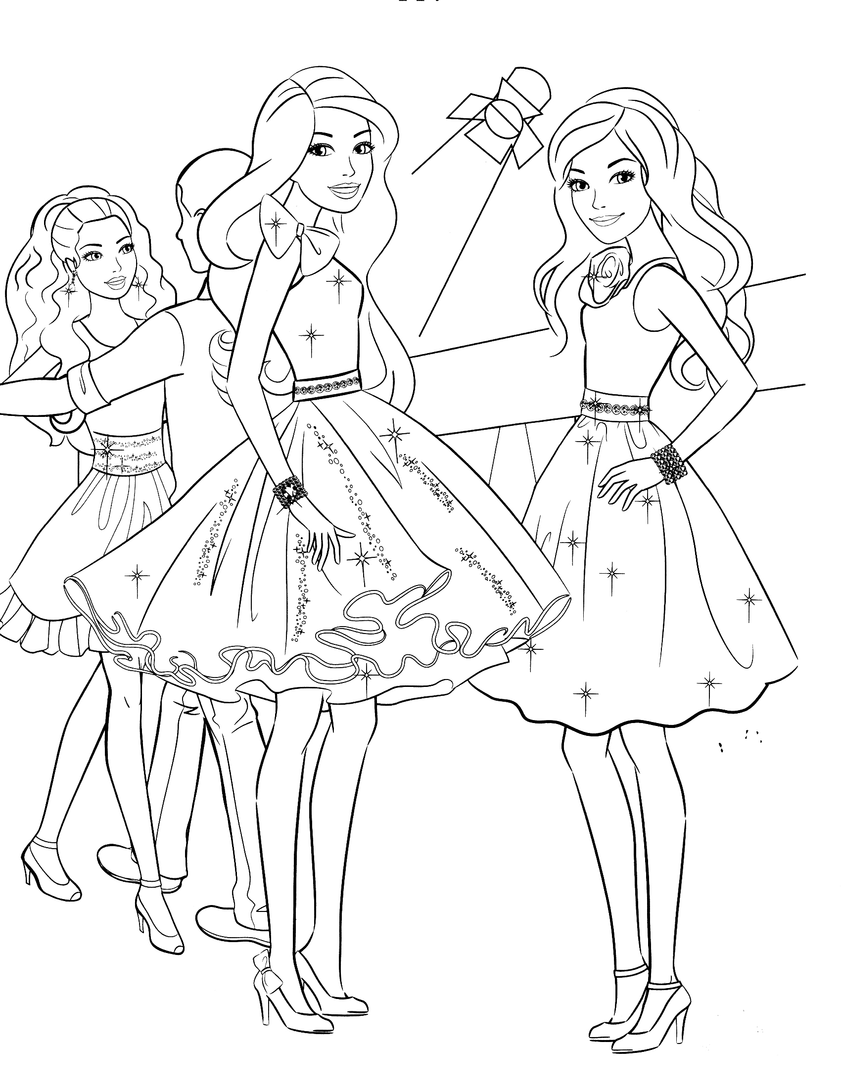 free barbie coloring pages coloring pages barbie free printable coloring pages barbie pages coloring free